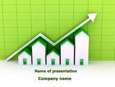 Financial/Accounting: Modèle PowerPoint de augmentation de l'activité de construction #09001