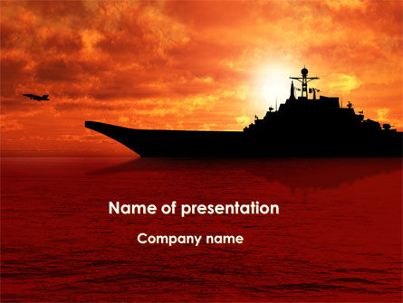 Heavy Aircraft Carrying Cruiser PowerPoint Template