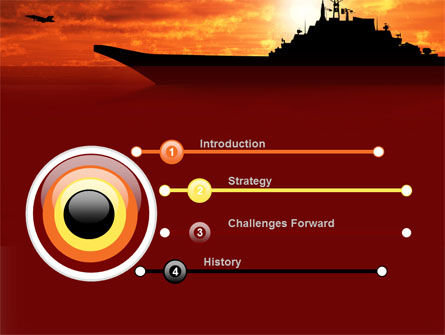 Heavy Aircraft Carrying Cruiser PowerPoint Template, Slide 3, 09002, Military — PoweredTemplate.com