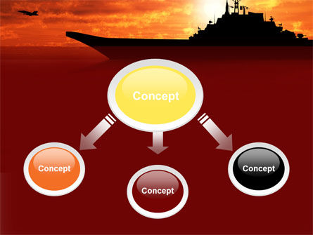 Heavy Aircraft Carrying Cruiser PowerPoint Template, Slide 4, 09002, Military — PoweredTemplate.com