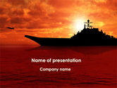 Military: Heavy Aircraft Carrying Cruiser PowerPoint Template #09002