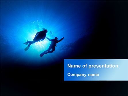 Diving Under The Sea PowerPoint Template, 09003, Health and Recreation — PoweredTemplate.com
