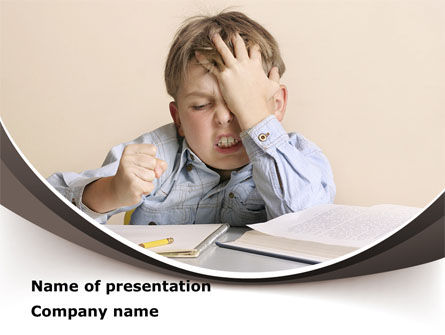 Education & Training: Educational Problems PowerPoint Template #09004