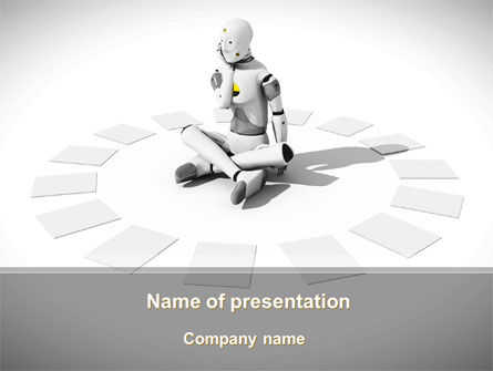 Careers/Industry: Artificial Man PowerPoint Template #09007