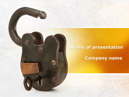 Consulting: Massive Padlock PowerPoint Template #09008