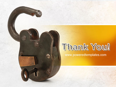 Massive Padlock PowerPoint Template Slide 20