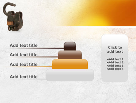 Massive Padlock PowerPoint Template Slide 8