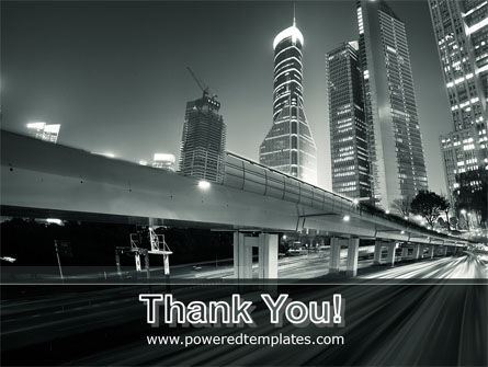 Night City Traffic PowerPoint Template Slide 20