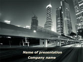 Night City Traffic PowerPoint Template#1