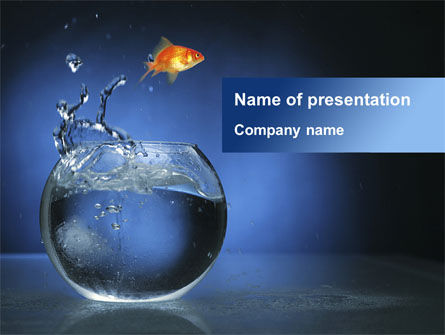 Business Concepts: Aquarium Fish is Jumping PowerPoint Template #09014