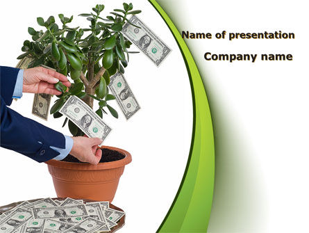 Money Tree Growing PowerPoint Template