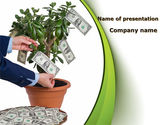 Financial/Accounting: Money Tree Growing PowerPoint Template #09015