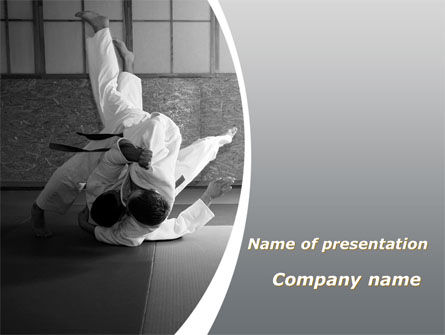 japan martial arts powerpoint template, backgrounds | 09016, Presentation templates