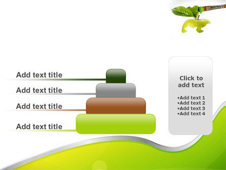 Painting Apple PowerPoint Template Slide 8
