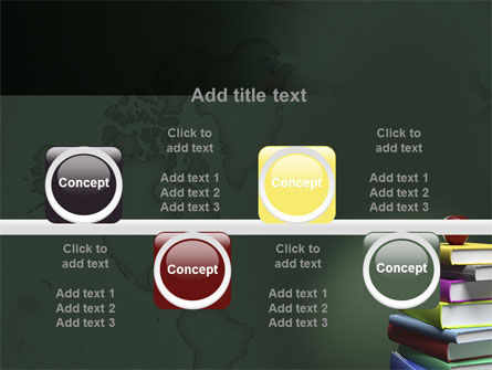 Books Stack and Apple PowerPoint Template Slide 18