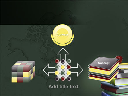 Books Stack and Apple PowerPoint Template Slide 19