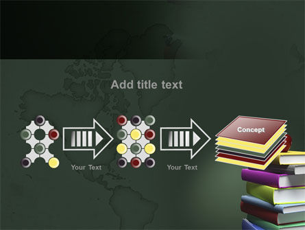 Books Stack and Apple PowerPoint Template Slide 9