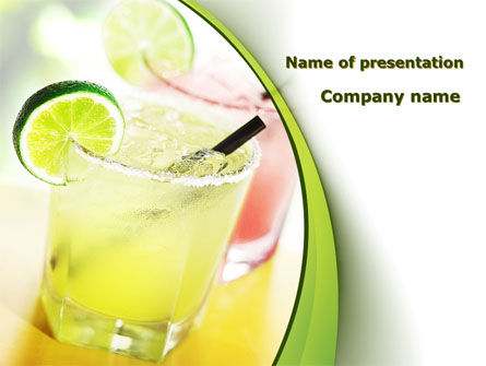 Cocktail with Lemon PowerPoint Template