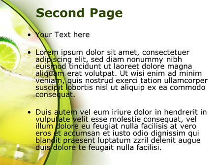 Cocktail with Lemon PowerPoint Template, Slide 2, 09020, Food & Beverage — PoweredTemplate.com