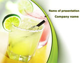 Food & Beverage: Cocktail with Lemon PowerPoint Template #09020
