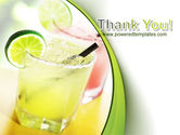 Cocktail with Lemon PowerPoint Template#20