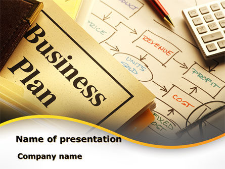 Business Concepts: Business Plan Interaction Scheme PowerPoint Template #09021