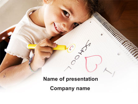 Education & Training: I Love School PowerPoint Template #09024
