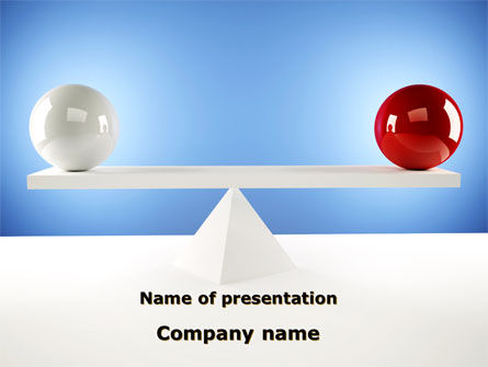 Balanced Balls PowerPoint Template, 09025, Business Concepts — PoweredTemplate.com