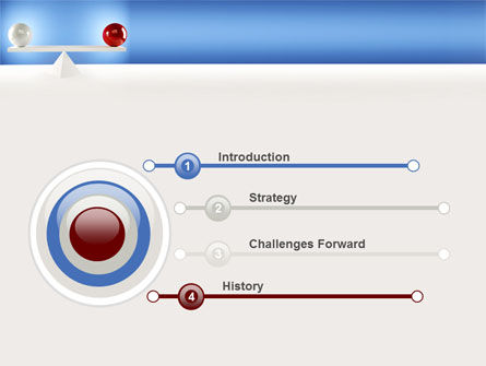 Balanced Balls PowerPoint Template, Slide 3, 09025, Business Concepts — PoweredTemplate.com