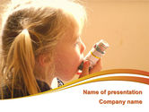 Medical: Respiratory Disease PowerPoint Template #09026