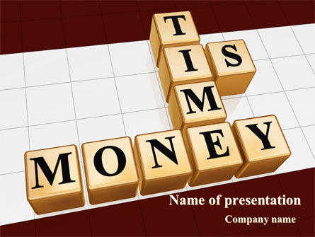 Time is Money In Cubes PowerPoint Template