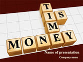 Business Concepts: Time is Money In Cubes PowerPoint Template #09027