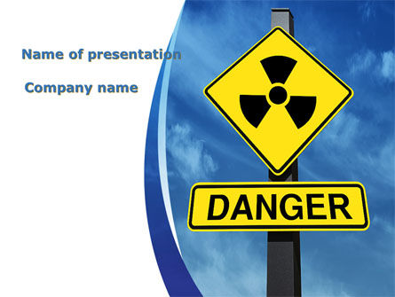Technology and Science: Radioactive Danger PowerPoint Template #09031