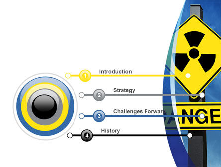 Radioactive Danger PowerPoint Template, Slide 3, 09031, Technology and Science — PoweredTemplate.com