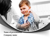 Medical: Treatment Of Pediatrician PowerPoint Template #09032