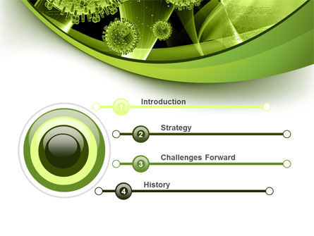 Virus Structure PowerPoint Template, Slide 3, 09037, Technology and Science — PoweredTemplate.com