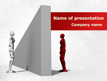 Consulting: Wall Of Misunderstanding PowerPoint Template #09038