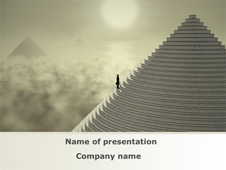 Career Pyramid PowerPoint Template, 09039, Business Concepts — PoweredTemplate.com