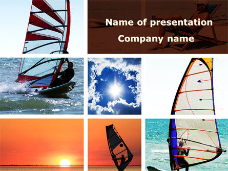Sports: Windsurfing PowerPoint Template #09041