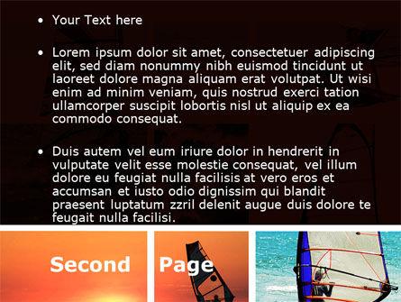 Windsurfing PowerPoint Template, Slide 2, 09041, Sports — PoweredTemplate.com