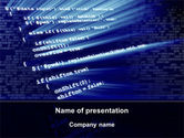 Technology and Science: Programming Coding PowerPoint Template #09042