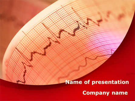 Medical: Cardiogram Band PowerPoint Template #09045