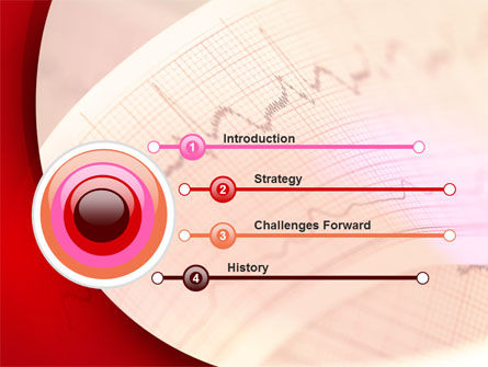 Cardiogram Band PowerPoint Template, Slide 3, 09045, Medical — PoweredTemplate.com