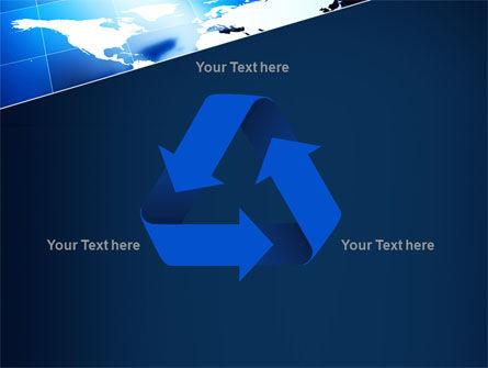 Deep Blue World Map PowerPoint Template Slide 10
