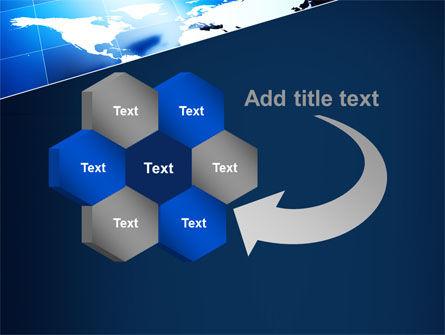Deep Blue World Map PowerPoint Template Slide 11