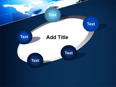 Deep Blue World Map PowerPoint Template Slide 14