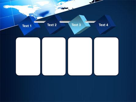 Deep Blue World Map PowerPoint Template Slide 18