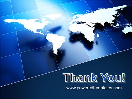 Deep Blue World Map PowerPoint Template Slide 20