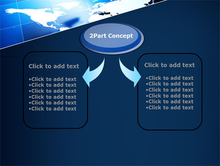 Deep Blue World Map PowerPoint Template, Slide 4, 09046, Global — PoweredTemplate.com