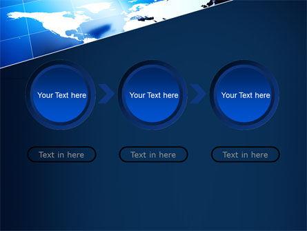 Deep Blue World Map PowerPoint Template Slide 5